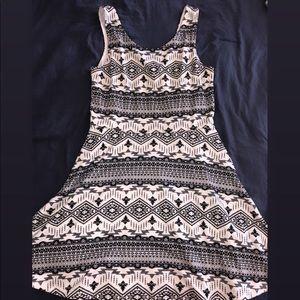 Divided Aztec print mini dress - size 12